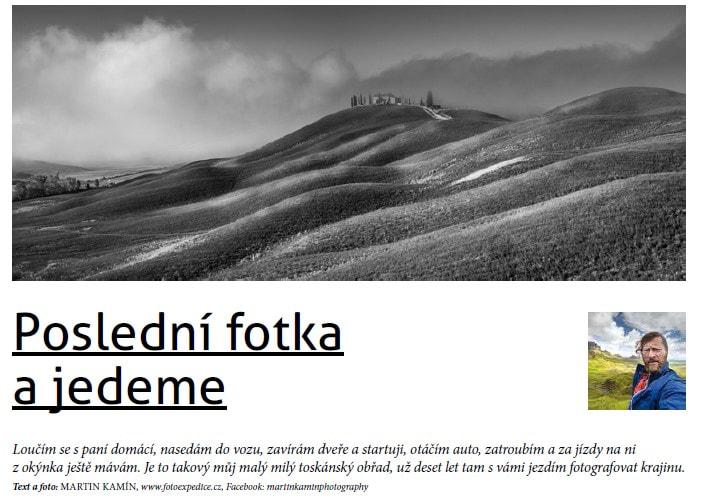 Poslední fotka Fotoexpedice Toskánsko